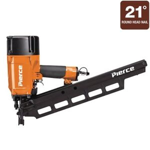 Pierce 21 Framing Nailer Full drive Power Sinks Nails Into All Types Lumber