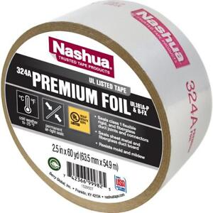 Nashua Tape 2 5 In X 60 Yd 324 Amp Premium Foil Ul Listed Hvac Tape