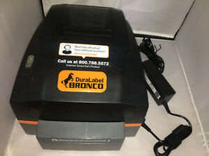 Duralabel Bronco 300 Graphic Products Industrial Label Printer Mint