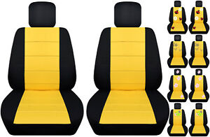 Vw Beetle Front Car Seat Cover Black Yellow W Daisy Ladybug Hibiscus Butterfly
