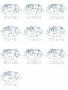 1000 White Puff Pad Earring Cards Jewelry Display 1 X 1