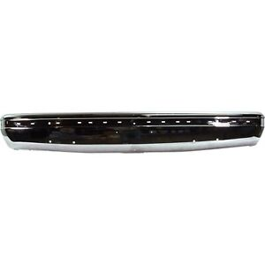 Front Bumper For 87 91 Ford F 150 F 250 Chrome Steel With Impact Strip Holes