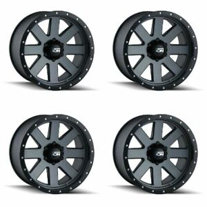 Set 4 18 Ion 134 Gunmetal Wheels 18x9 8x170 0mm Ford Excursion F250 F350 8 Lug