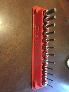 Snap On Tools 3 8 1 4 Dr Allen hex Socket Driver Bit Sae Set Key 212eftay 12pc