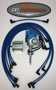 Mopar 440 73 78 Blue Small Female Cap Hei Distributor 60k Coil Plug Wires