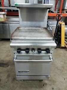 American Range 4 Burner Oven With Full Size Griddle Top Backsplash Top Shelf