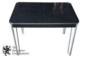 Wolfgang Hoffmann For Howell Dining Table Art Deco Black Micarta