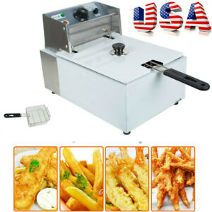 Commercial Electric Deep Fryer Singol Basket Countertop Chip Industrial