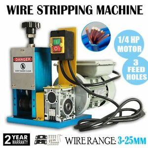 50 60hz Automatic Wire Stripping Machine Electric Copper Cable Stripper Recycle