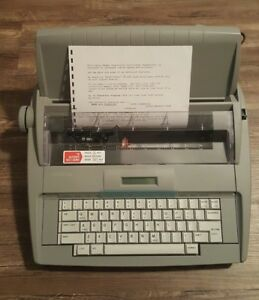 Brother Sx 4000 Electronic Typewriter W Lcd Display Tested And Working