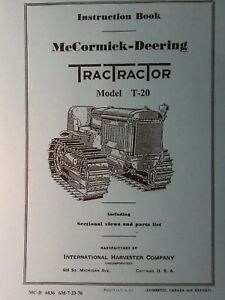 T 20 International Tractractor Crawler Tractor Owner Service 2 Manual 122pg