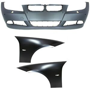 Bumper Cover Kit For 2007 2008 Bmw 328i Front With Fender