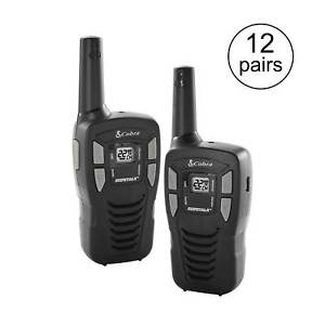 Cobra 16 mile 22 channel Frs Gmrs Walkie Talkie 2 way Radios Cx112 12 Pairs