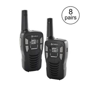 Cobra 16 mile 22 channel Frs Gmrs Walkie Talkie 2 way Radios Cx112 8 Pairs