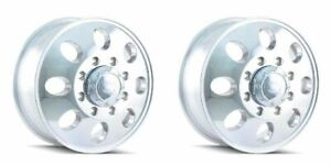 Pair 2 16 Ion 167 Polished Front Dually Wheels 16x6 8x170 102mm Ford F350 8 Lug