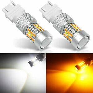 Jdm Astar 3157 Led Switchback 21 Smd Dual Color White Yellow Turn Signal Lights