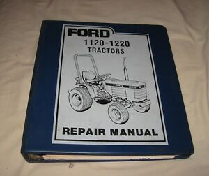 Ford 1120 1220 Tractor Repair Manual In Ford 3 Ring Binder