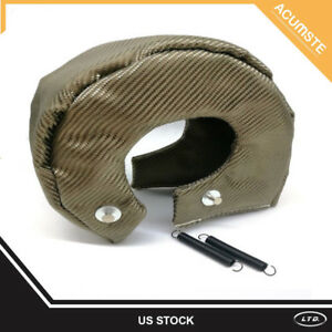 Titanium Turbo Charger Blanket Heat Shield Turbocharger Wrap Cover For T6 T88 T5