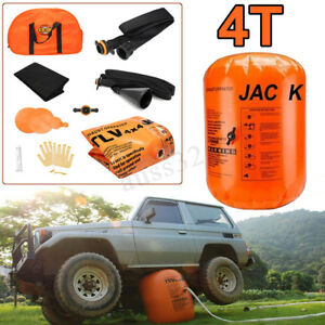 Exhaust Pump Dual Inflatable Air Jack 4t Car Vehicle Truck Off Road Rescue Tools