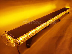 68 128w Amber Led Emergency Beacon Warning Strobe Tow plow Truck Roof Light Bar