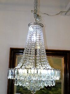Magnificent Estate Vintage 18 Light Crystal Chandelier