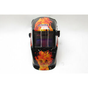Lincoln Electric Auto darkening Welding Helmet With Variable Shade Lens Flame
