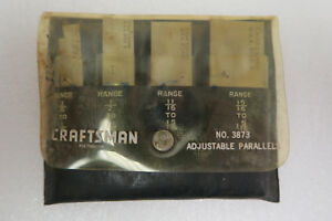 Early 60 s Craftsman 4 Piece Adjustable Parallel Set 3873 W pouch