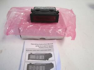 Process Digital Panel Meter 4 To 20madc Red Lcd Power Required 85 250vac New
