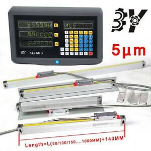 3 Axis Digital Readout With Precision Linear Scale Fits Milling Lathe Machine