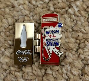 london olympics 2012 coca cola bottle Phone Booth pin badge