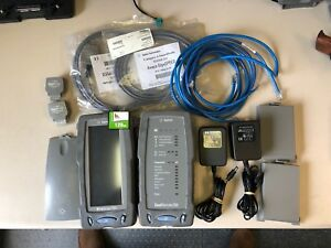 Agilent Wirescope 350 Cat5 Cat5e Cat6 Cable Certifier Kit Dual Remote Working