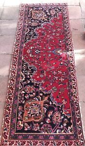 Antique Persian Hand Knotted Wool Rug Runner 6 7 X 30