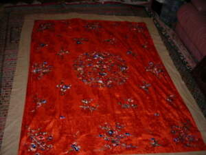 Final Sale Lovely Vintage Antique Huge Chinese Silk Embroidery Tapestry 5x6 4