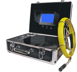 Sewer Drain Pipe Cleaning System 65ft Cable Inspection Video Snake Camera 7 Lcd