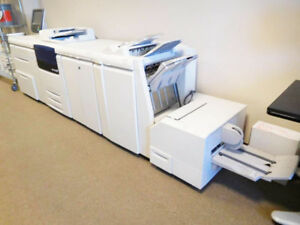 Xerox Color J75 Press Fiery Booklet Decurler Trimmer Punch Finisher