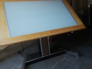 Mayline Futur matic Adjustable Drafting Table 5 Ft Wide X 3 Ft 7 In Hydraulics