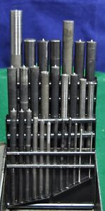 Blank Drill Bit Set A Z Or 062 500 With Index In Vintage Huot Case