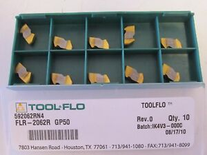 Lot Of 10 Tool flo 592062rn4 Flr 2062r Gp50 Carbide Inserts New