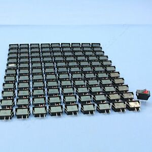 100 Leviton Spst Black W Red Snap in Mini Rocker Switches On off 20a Hb001 1