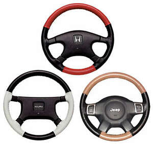 Eurotone 2 Tone Genuine Leather Steering Wheel Cover Custom Fit You Pick Colors