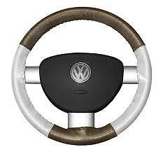 Chrysler Perforated Custom 1 Or 2 Color Leather Steering Wheel Cover Eurotone