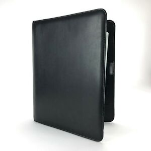 Black Franklin Covey Open Padfolio Monarch Sized With Ruled Note Pages