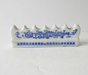 Chinese Blue White Porcelain Scholars Calligrapy Brush Rest