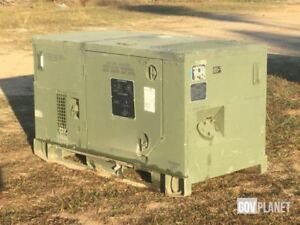 Diesel Military Generator Only 96 Hrs 10kw Military 120 240 208 400hz Mep 813a