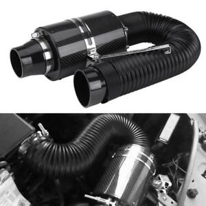 76mm Car Filter Box Title Carbon Fiber Induction Ram Cold Air Intake System Hot