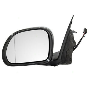 New Drivers Power Side Mirror Chrome Heated Blind Spot Glass 14 15 Fiat 500l