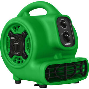 Xpower1 5hp Mini Air Mover Green Portable Carpet Dryer Powerful Speed Floor Fan