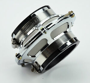 Universal 3 0 76mm Cold Air Intake Bypass Valve Filter Chrome 3 Turbo