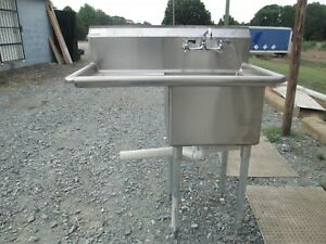 One Compartment Stainless Steel Prep salad Sink