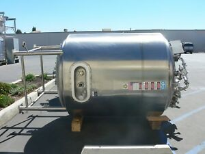 Dci 2500 Liter 316l Stainless Steel Jacketed Reactor 60psi Vessel 90psi Jacket